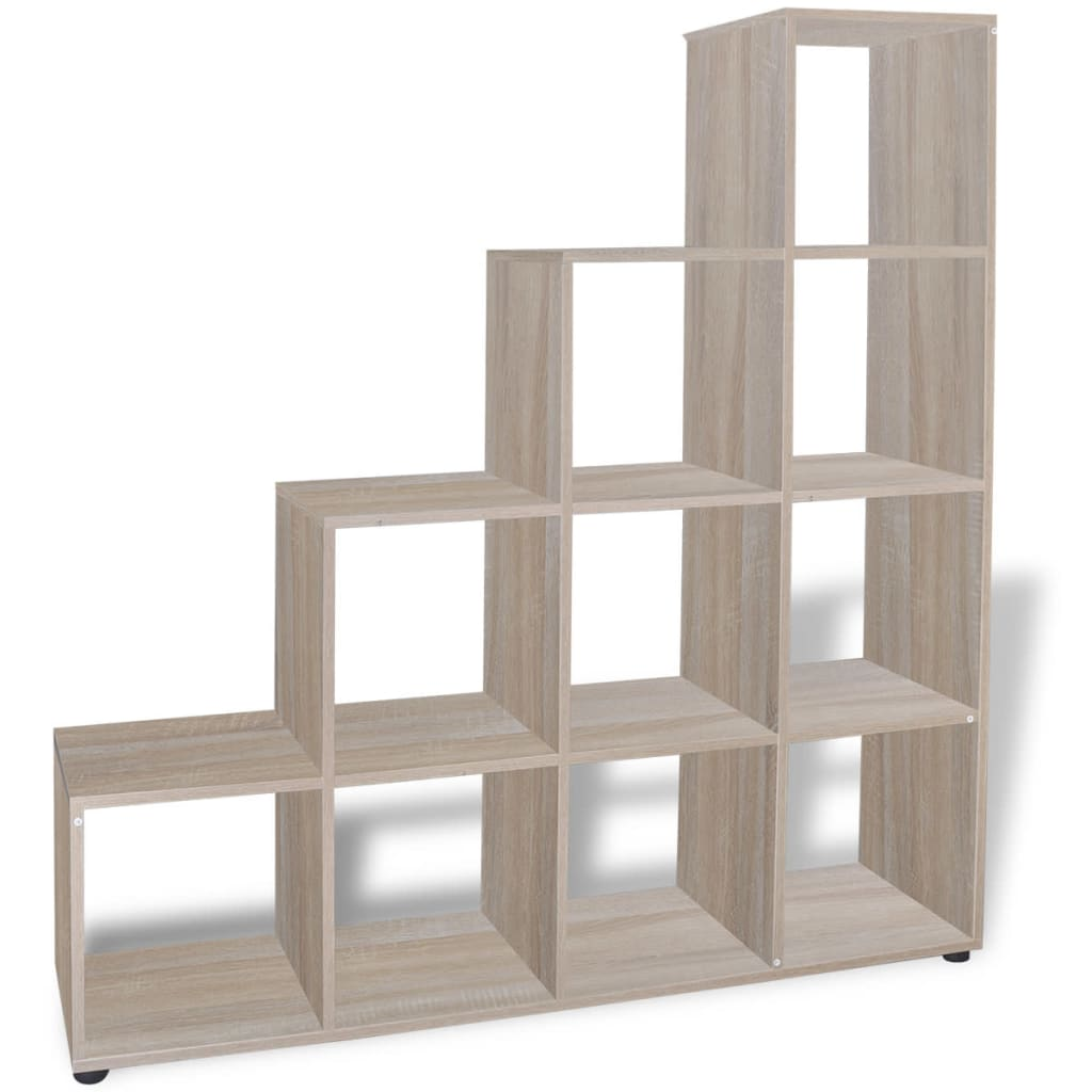 vidaXL-Estanteria-para-libros-forma-escalera-dimensiones-altura-142-cm-roble