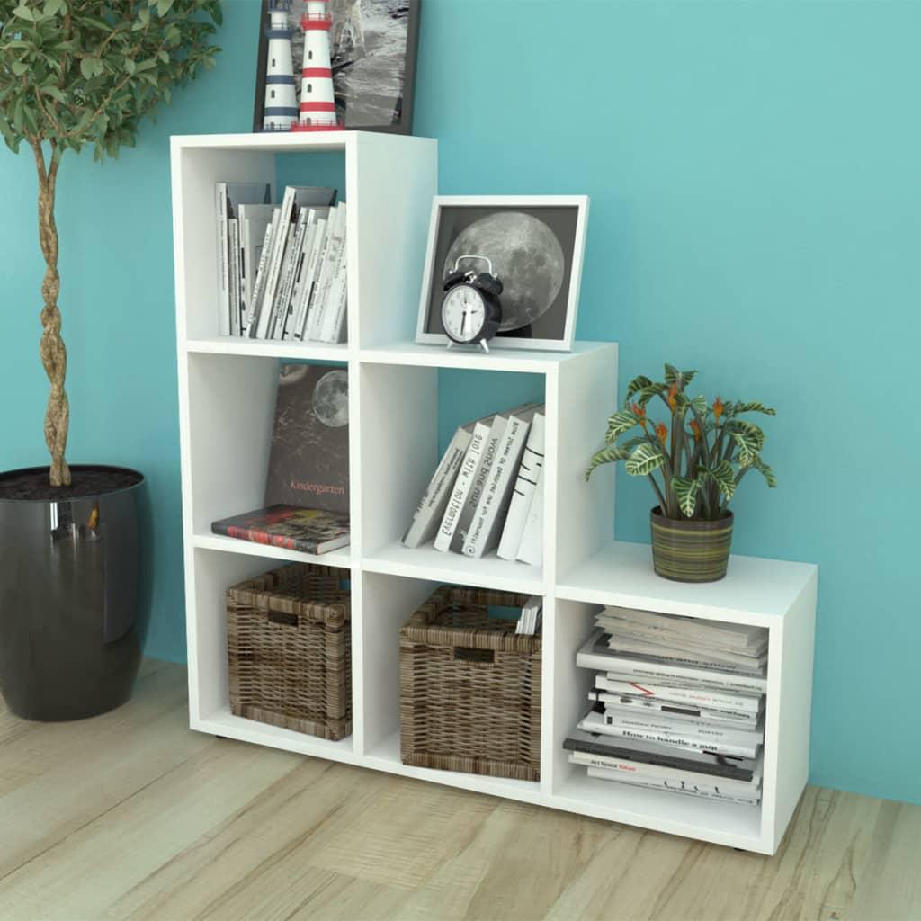vidaxl staircase shelf storage unit bookcase filing display rack