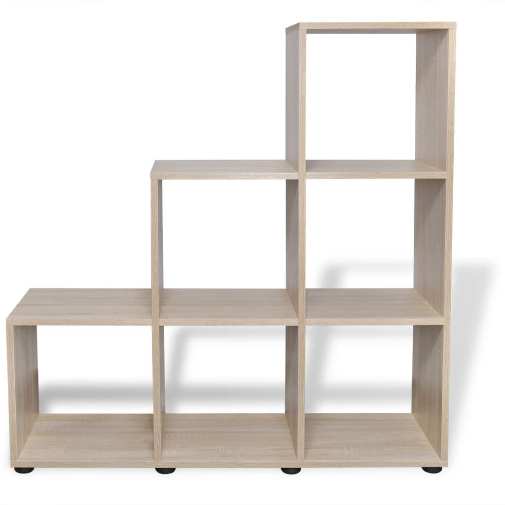 Staircase Bookcase Display Shelf 107 Cm Oak