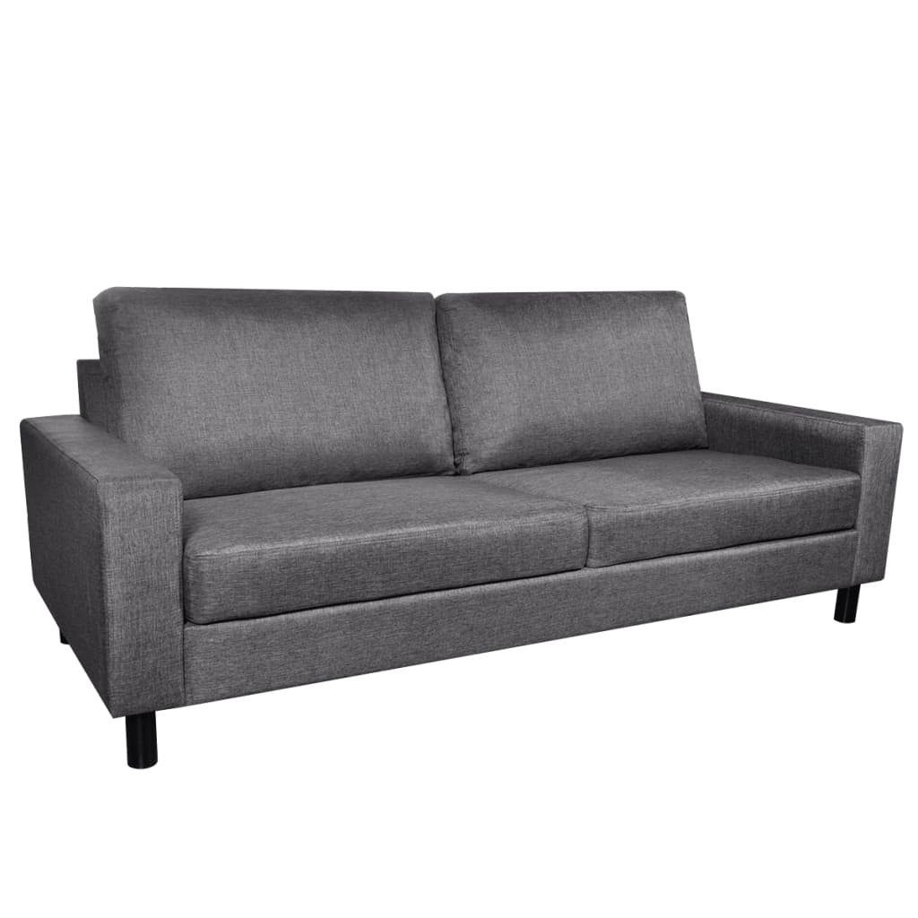 Dark gray 3 seater sofa for Dark grey couch