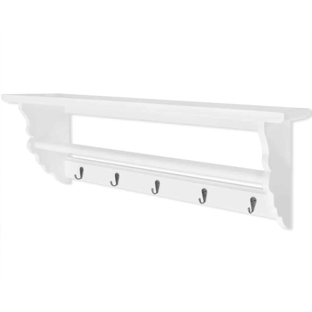 Vidaxl perchero estilo barroco mdf blanco tienda online - Perchero pared blanco ...