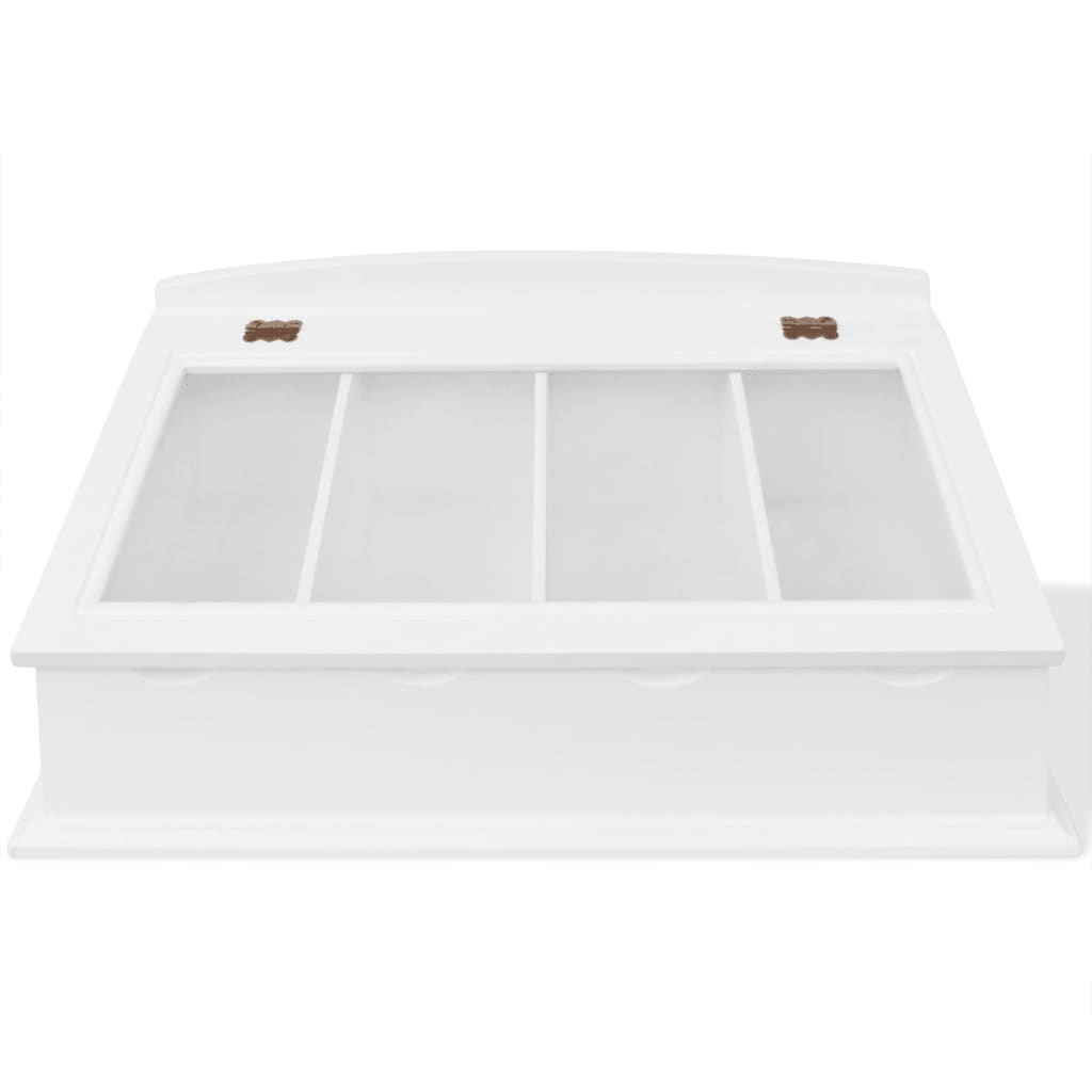 Cutlery tray white large vintage wooden display organiser for Cutlery storage with lid