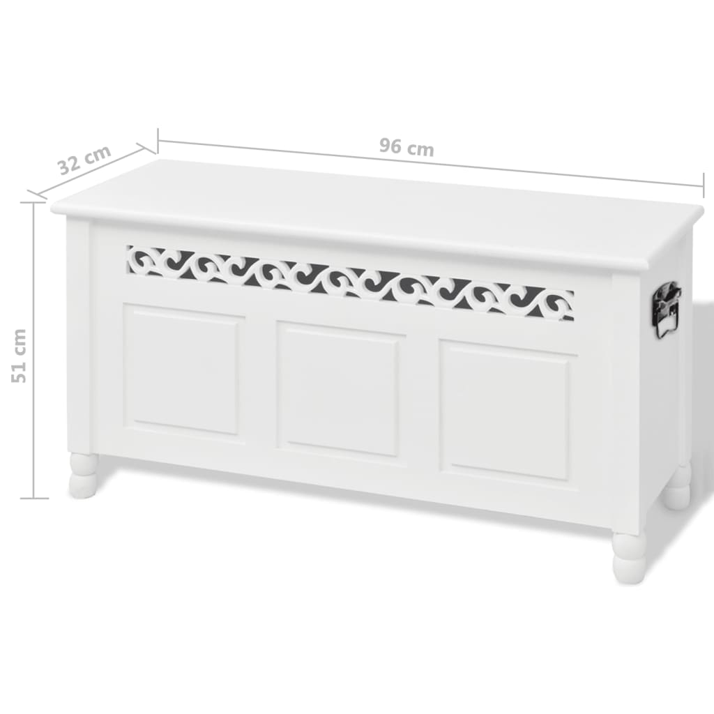 vidaXL Hall Entryway Living Room Bench Storage Chest Box Seat Home ...