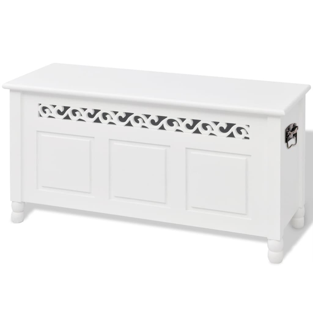 la boutique en ligne vidaxl banc de rangement en style baroque pfdm blanc. Black Bedroom Furniture Sets. Home Design Ideas
