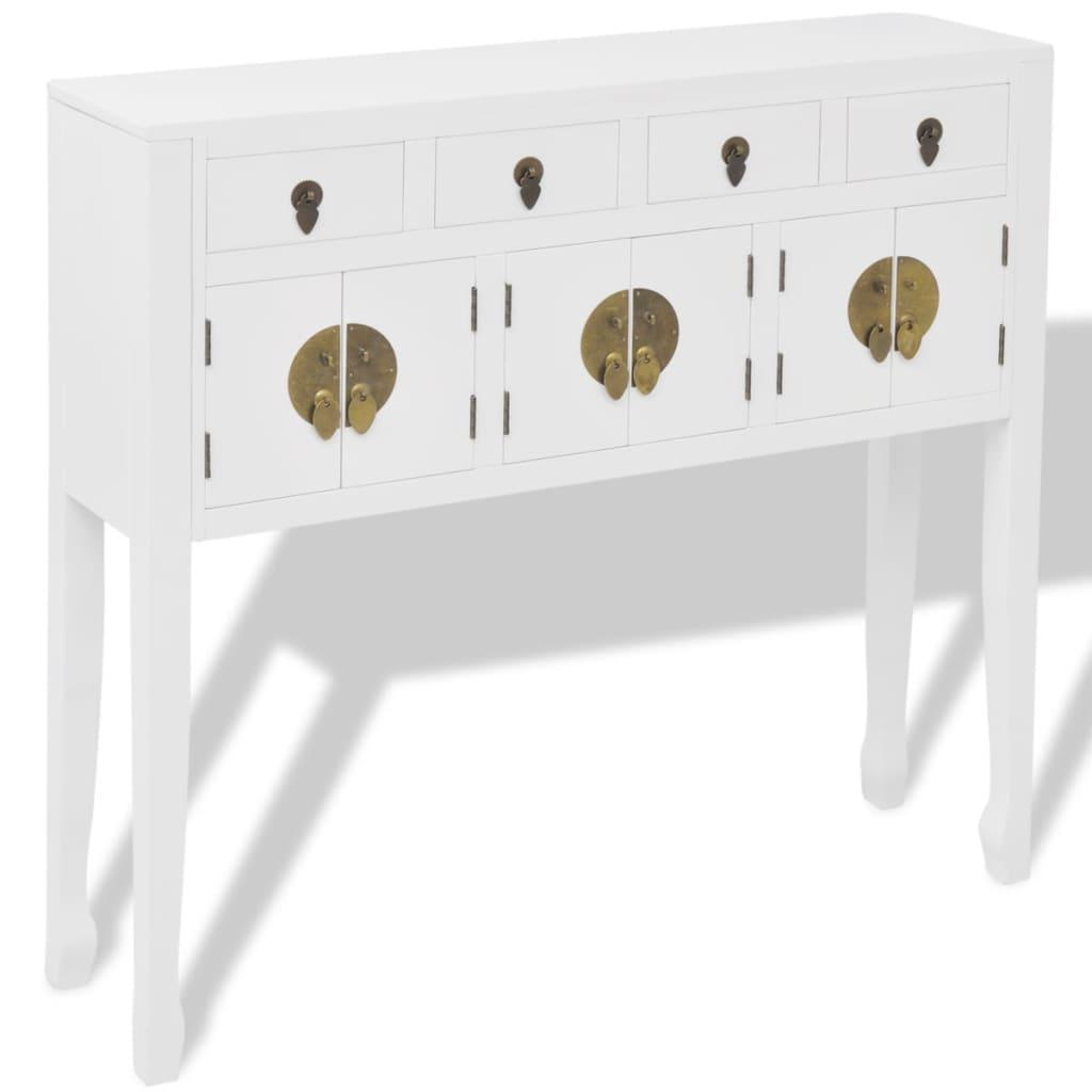 vidaXL Mała komoda w stylu chińskim biała lite drewno