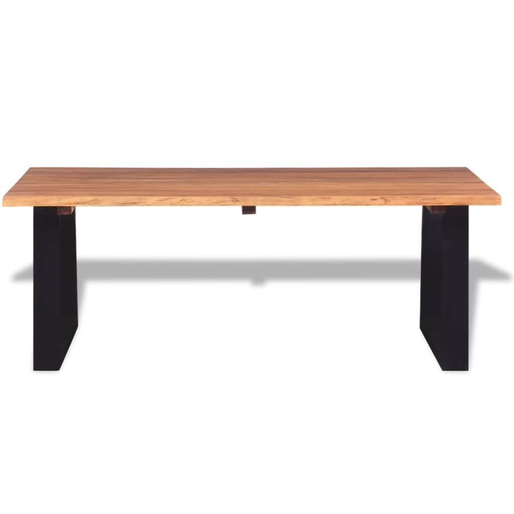 Vidaxl Coffee Table Solid Acacia Wood 110x60x40 Cm