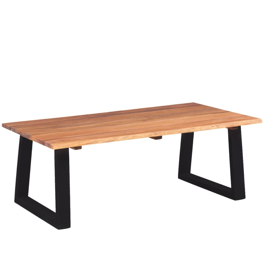 Vidaxl coffee table solid acacia wood 110x60x40 cm for Coffee table 60 x 40