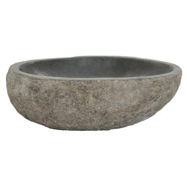 "vidaXL Basin River Stone Oval 11.8""[3/4]"
