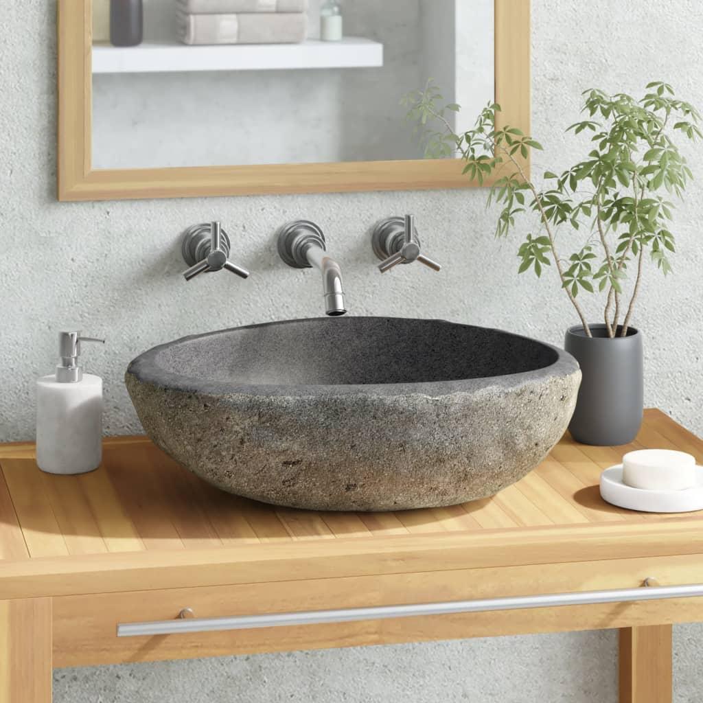 vidaXL oválos kő fürdőszobai medence 30 cm
