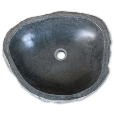 vidaXL Umivalnik iz Rečnega Kamna Ovalen 40 cm[3/4]