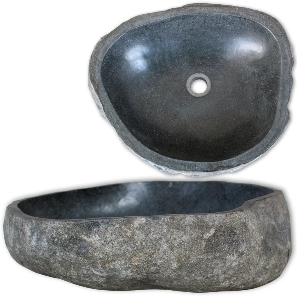 vidaXL Basin River Stone Oval 50 cm