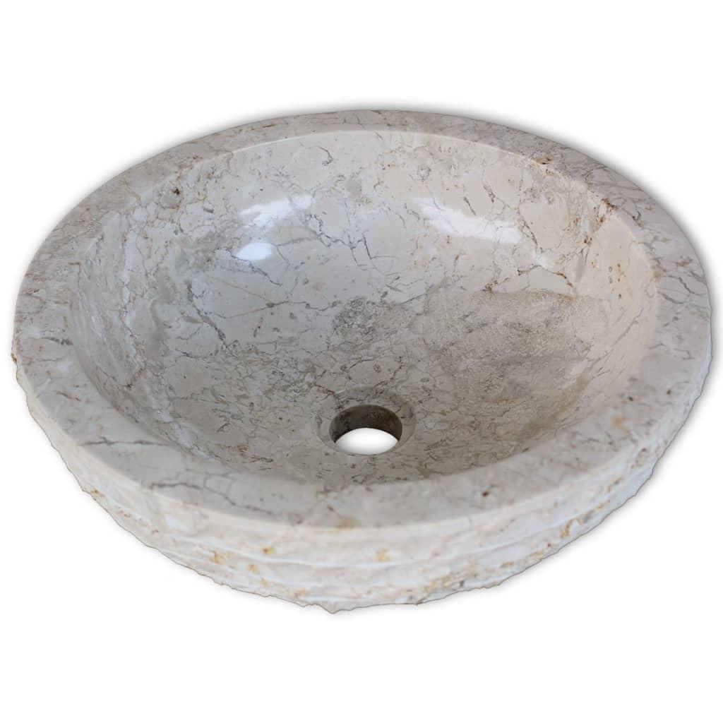 acheter vidaxl lavabo en marbre 40 cm cr me pas cher. Black Bedroom Furniture Sets. Home Design Ideas