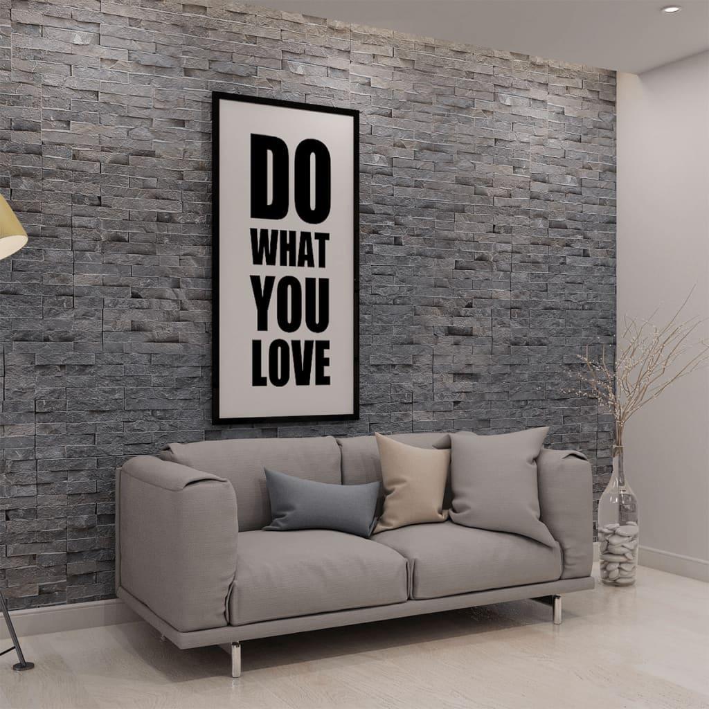 vidaXL Wandverkleidung 5 Stk. Marmor Schwarz 0,5 m²