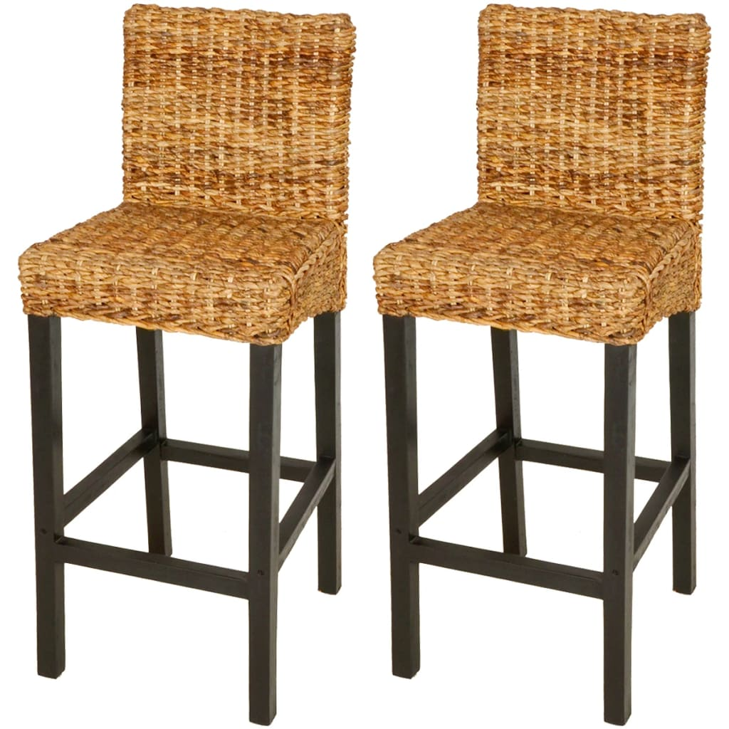 acheter vidaxl tabouret de bar 2 pcs abaca marron pas cher. Black Bedroom Furniture Sets. Home Design Ideas