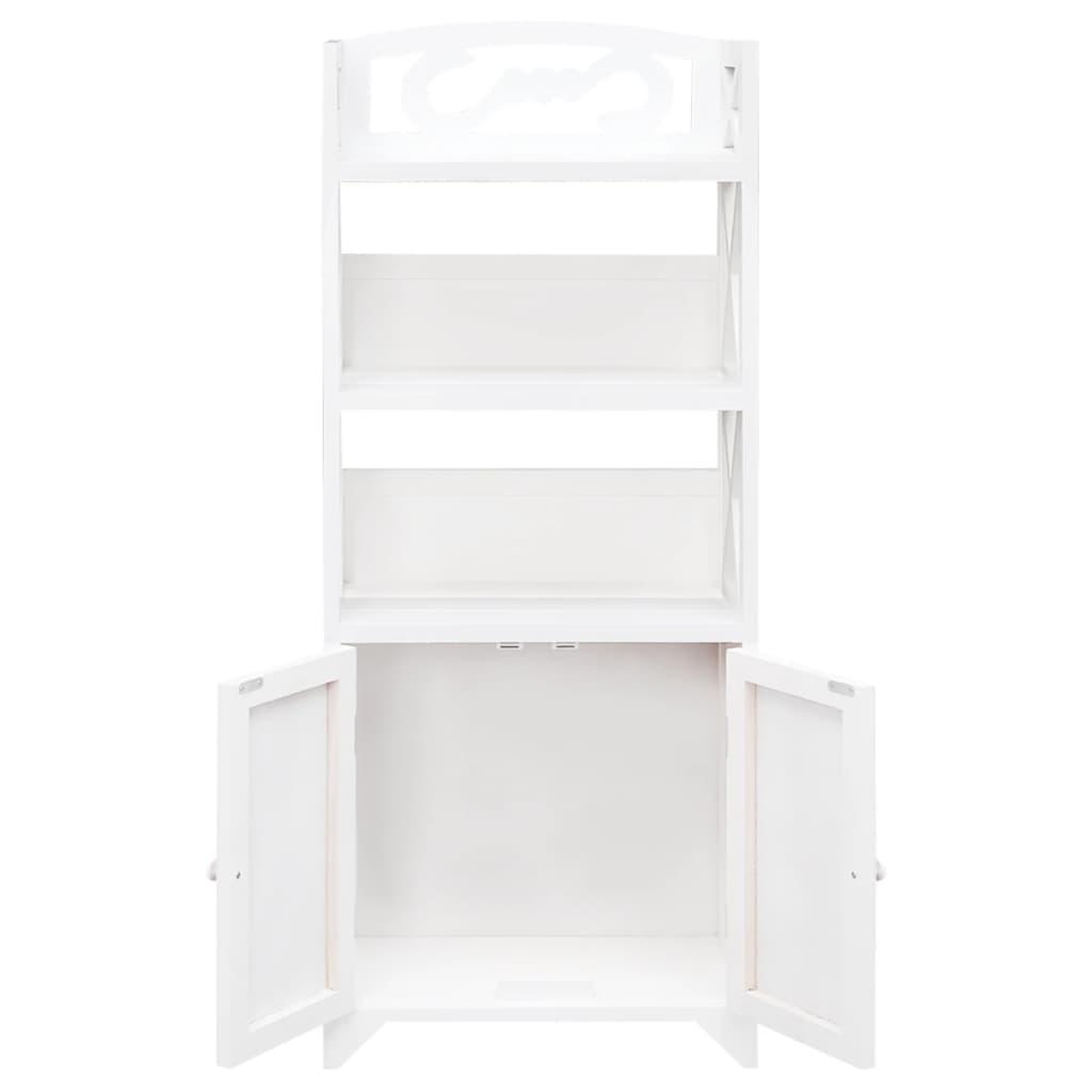 Vidaxl armario de ba o de madera blanco modelo albuquerque - Armario madera blanco ...