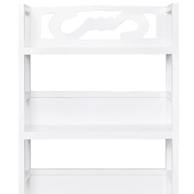 acheter vidaxl armoire de salle de bain bois albuquerque blanc 46x24x117 5 cm pas cher. Black Bedroom Furniture Sets. Home Design Ideas