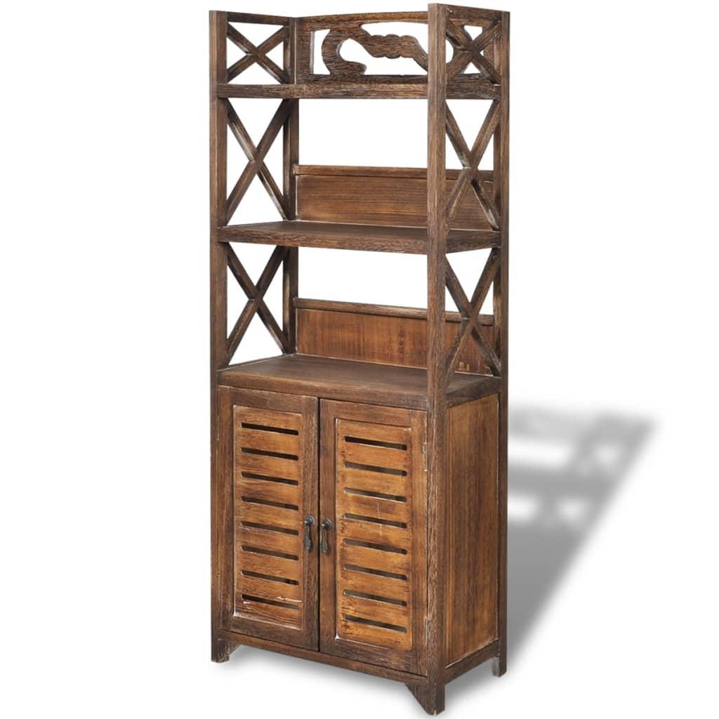 acheter vidaxl armoire de salle de bain bois albuquerque marron 46x24x117 5 cm pas cher. Black Bedroom Furniture Sets. Home Design Ideas
