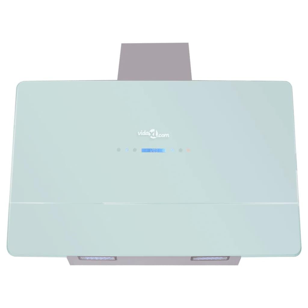 Vidaxl hotte aspirante tactile 900 mm blanc hotte inclin e hotte d corative ebay - Hotte aspirante plan incline ...