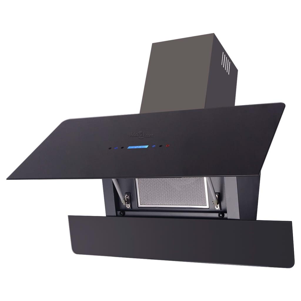 Afbeelding van vidaXL Afzuigkap met touch scherm zwart 900 mm