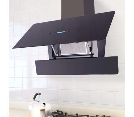 la boutique en ligne vidaxl hotte aspirante tactile 900 mm noire. Black Bedroom Furniture Sets. Home Design Ideas