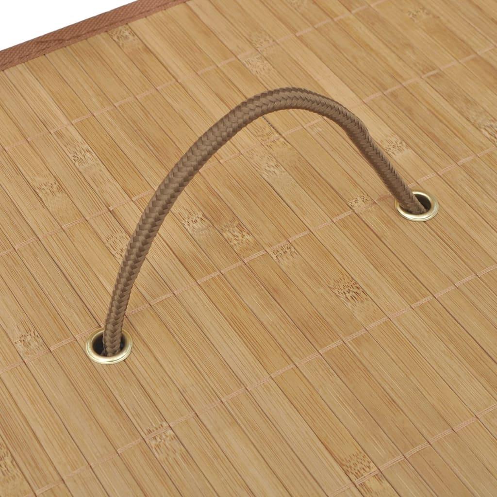 Vidaxl cesto de colada rectangular de bamb color natural - Cestos para la colada ...