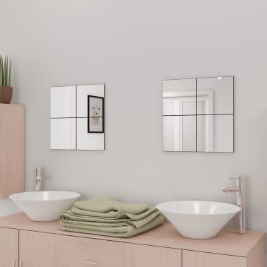 La boutique en ligne vidaxl carreaux de miroir verre sans for Miroir 9 carreaux