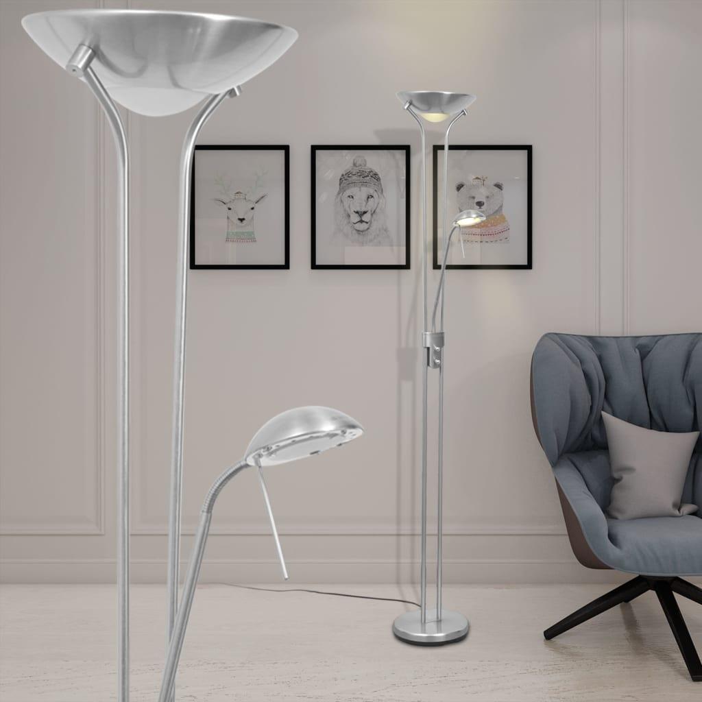 vidaXL Lampada da terra piantana a LED dimmerabile design elegante soggiorno 23W