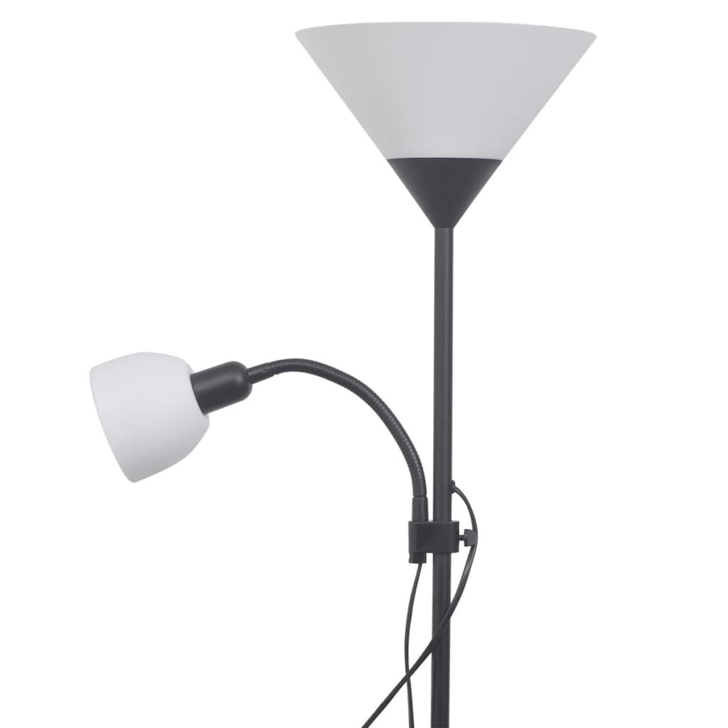vidaXL-Lampada-da-terra-piantana-design-elegante-casa-soggiorno-ufficio-grigia
