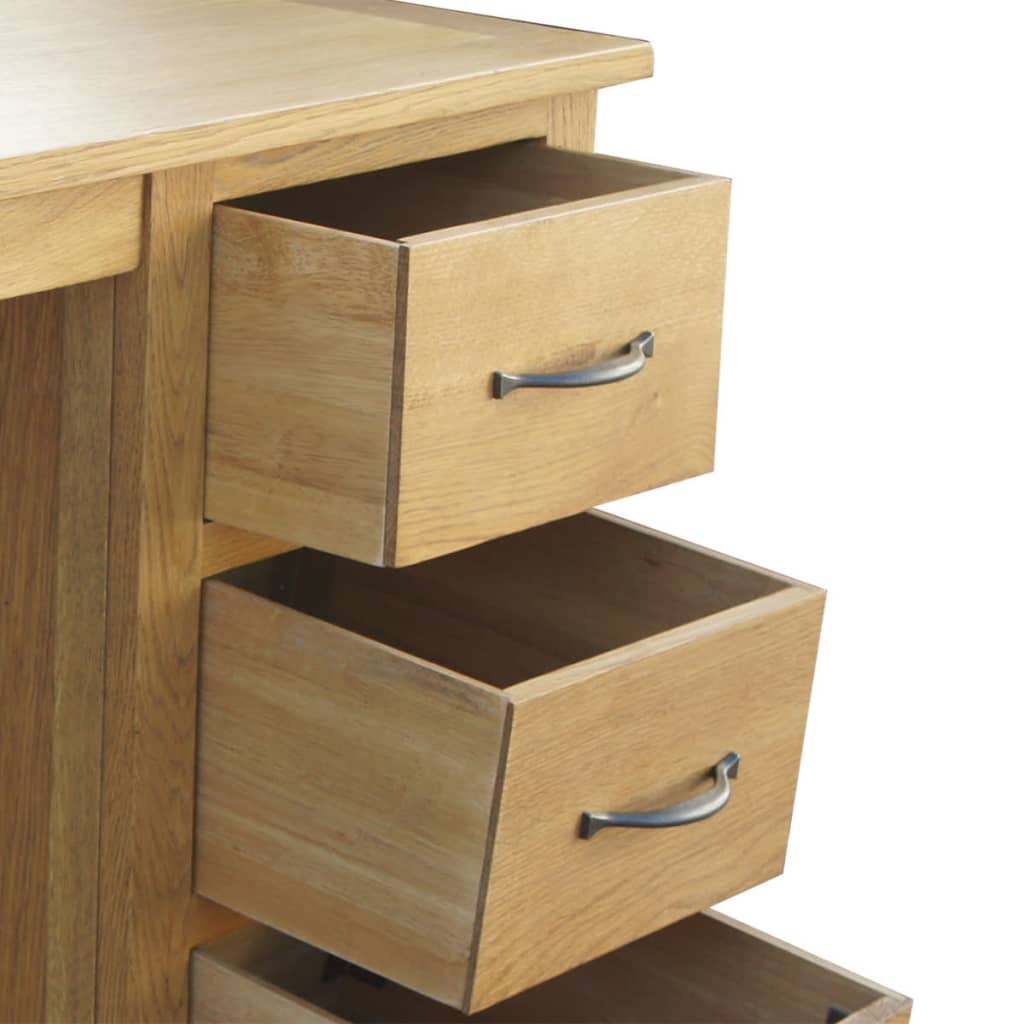 Oak Desk With Drawers ~ Vidaxl desk with drawers oak cm