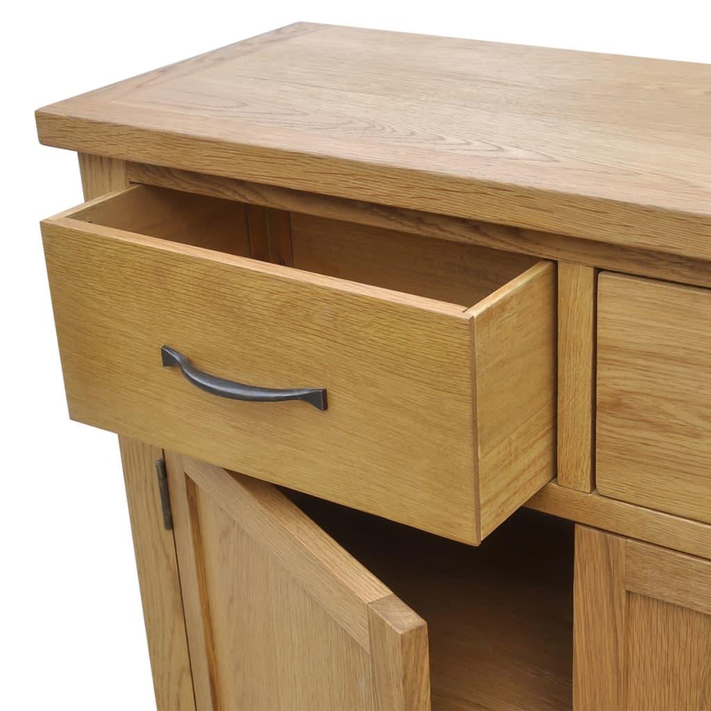 vidaxl oak sideboard cm. Black Bedroom Furniture Sets. Home Design Ideas