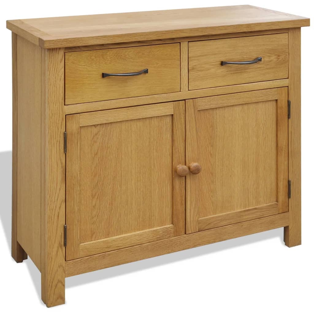 oak sideboard buffet table with 2 cabinets and 2 drawers wood rh ebay co uk ikea furniture kitchen cabinets kitchen furniture cabinets storage