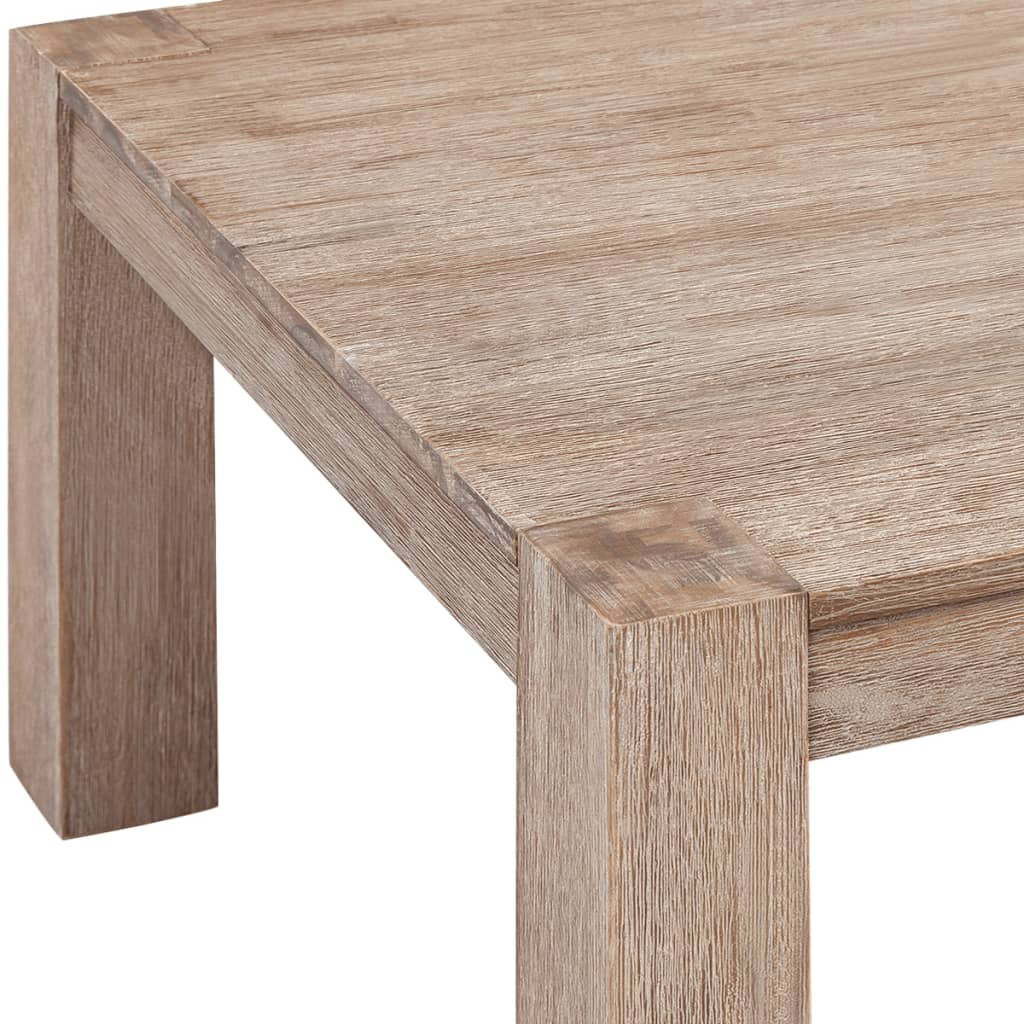 Vidaxl coffee table solid brushed acacia for Coffee table 60 x 40
