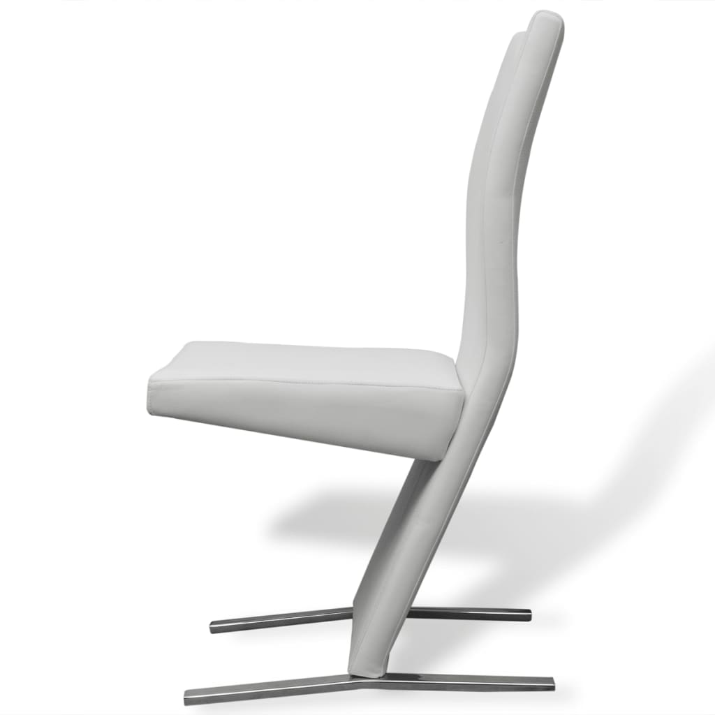 Vidax sedie per sala da pranzo 2 pezzi in pelle sintetica for Sedie in pelle bianca