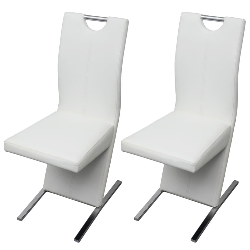 Vidaxl sillas de comedor 2 piezas de piel artificial for Sillas en piel para comedor