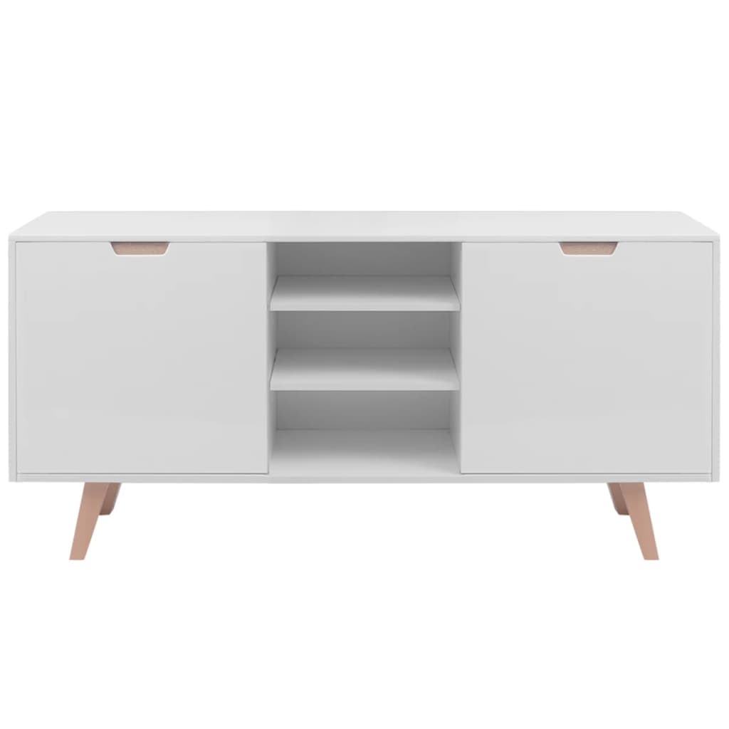 Vidaxl high gloss sideboard mdf 150x40x73 cm white for Sideboard 40 cm