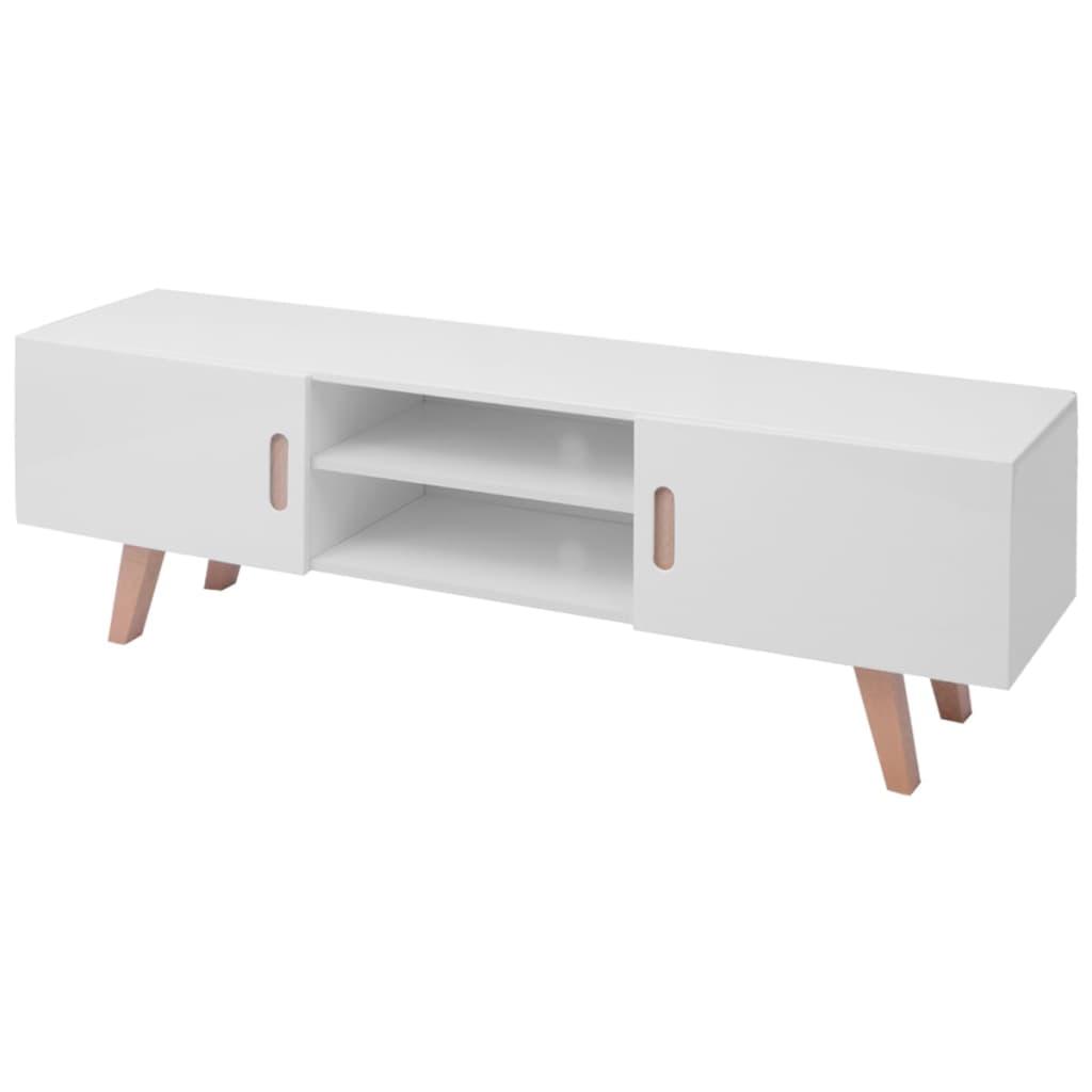 vidaXL Szafka pod TV, MDF, 150x46,5x48,5 cm biała