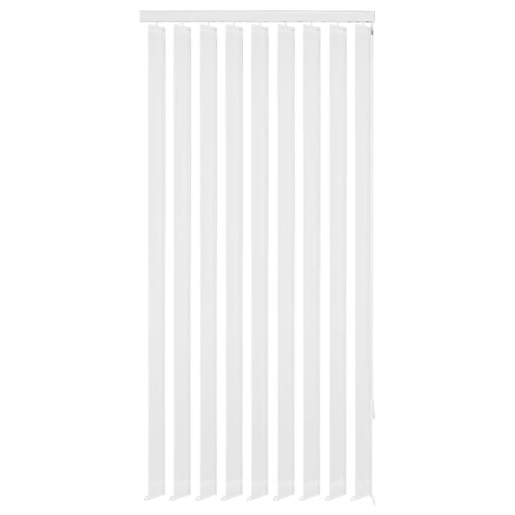 vidaXL 120x180 cm fehér szövetű függőleges ablakredőny
