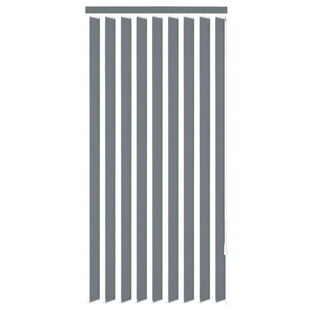 vidaXL 120x180 cm szürke szövetű függőleges ablakredőny