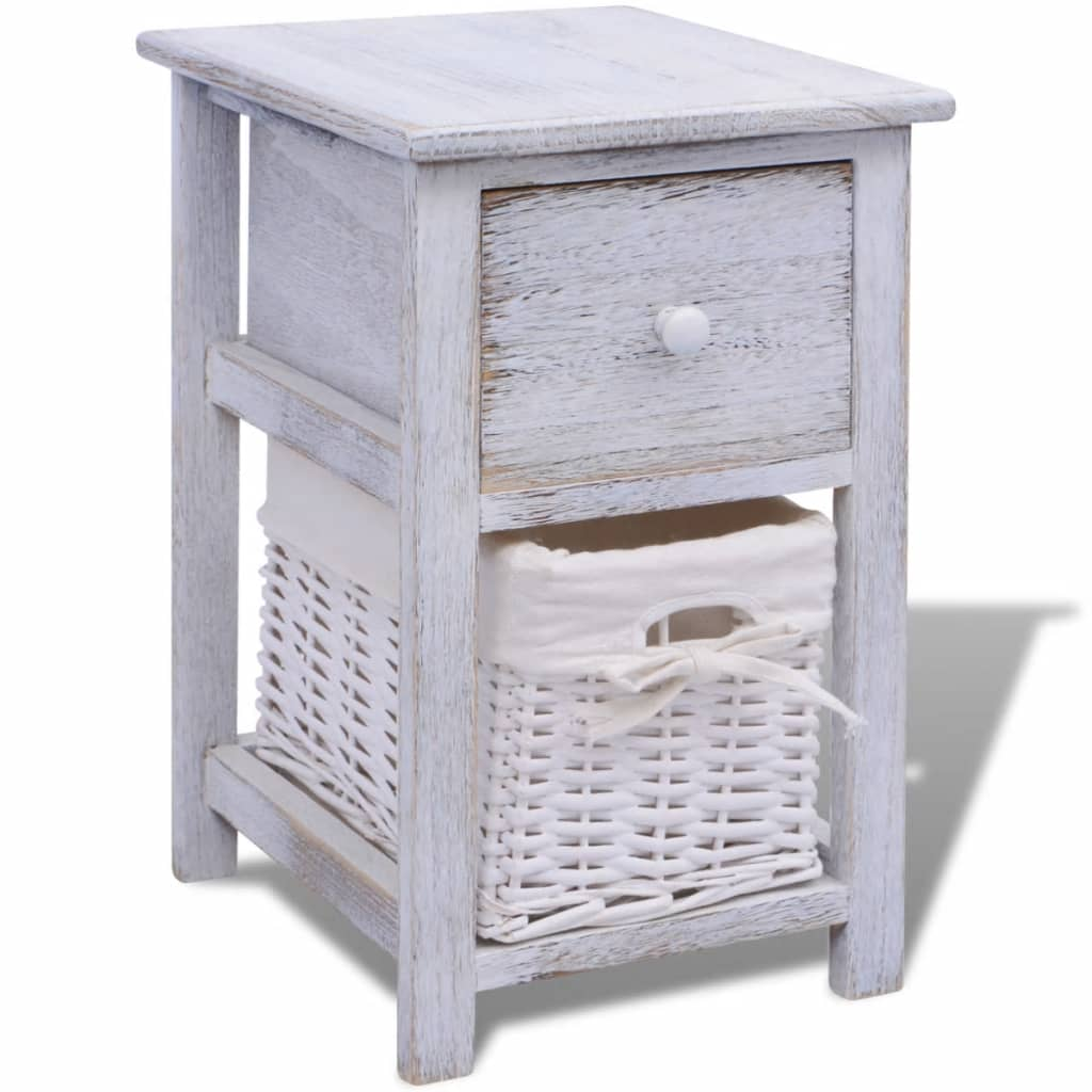 der vidaxl shabby chic nachttisch schr nkchen holz wei online shop. Black Bedroom Furniture Sets. Home Design Ideas