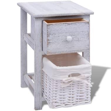 vidaxl shabby chic nachttische schr nkchen 2 stck holz. Black Bedroom Furniture Sets. Home Design Ideas
