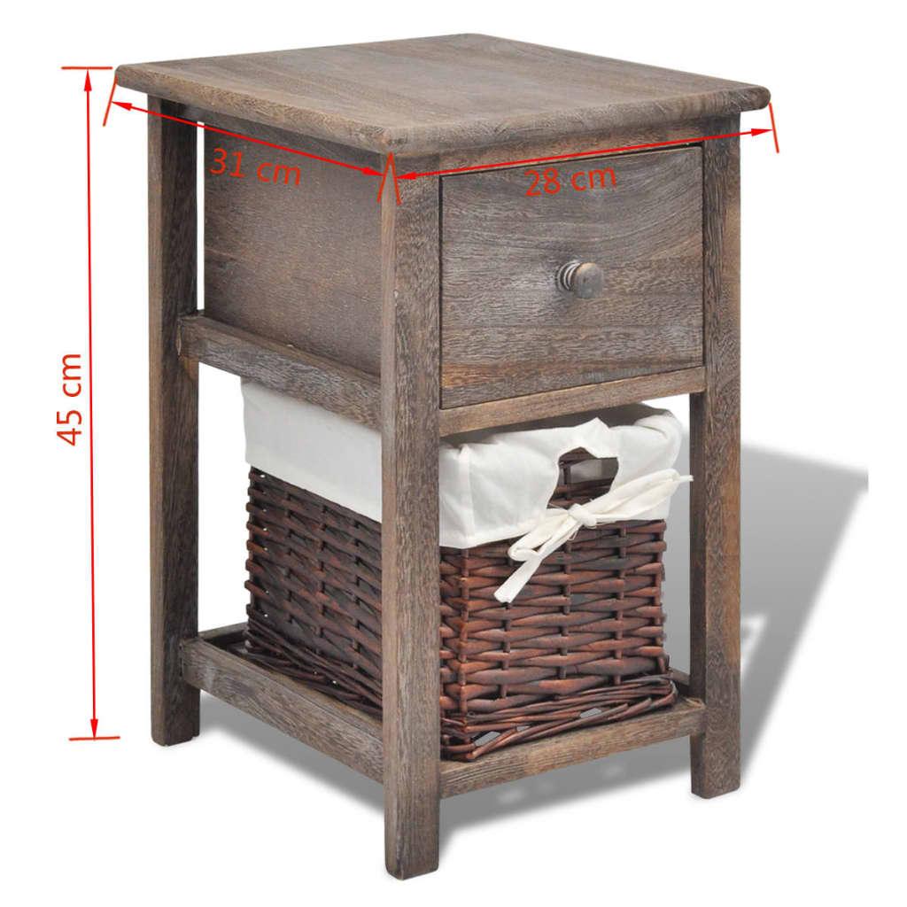 acheter vidaxl table de chevet 2 pcs bois marron pas cher. Black Bedroom Furniture Sets. Home Design Ideas