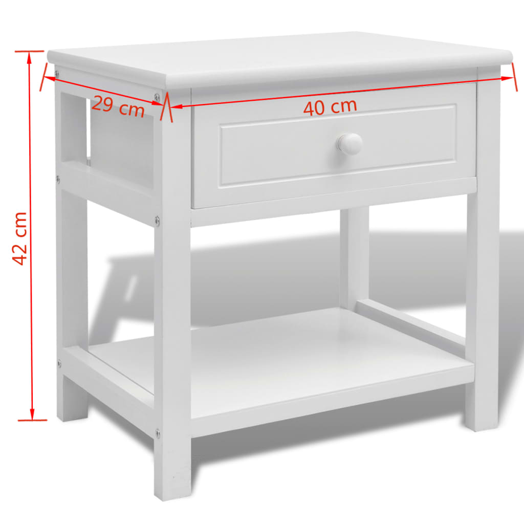 La boutique en ligne vidaxl table de chevet bois blanc - Table de chevet solde ...
