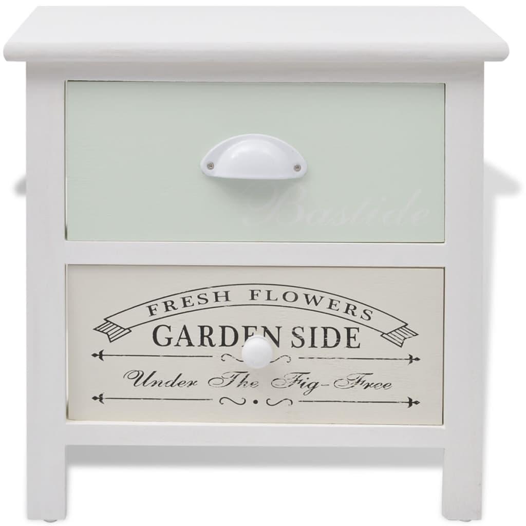 vidaxl shabby chic landhausstil nachttisch holz g nstig. Black Bedroom Furniture Sets. Home Design Ideas
