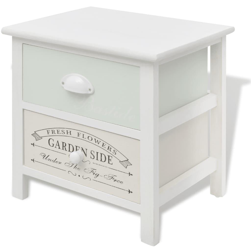 der vidaxl shabby chic landhausstil nachttisch holz online. Black Bedroom Furniture Sets. Home Design Ideas
