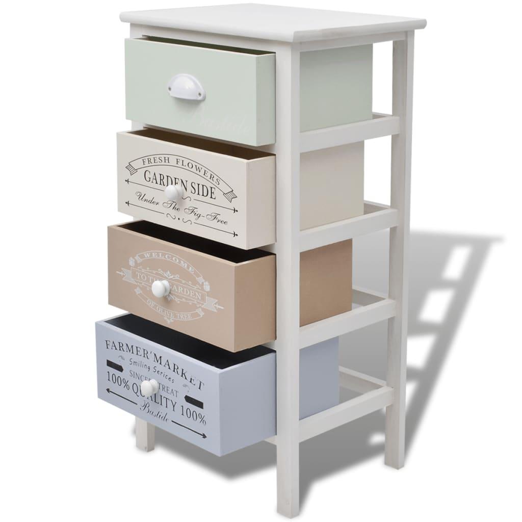 acheter vidaxl armoire de rangement 4 tiroirs bois pas. Black Bedroom Furniture Sets. Home Design Ideas