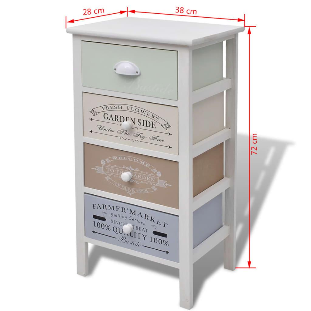 la boutique en ligne vidaxl armoire de rangement 4 tiroirs. Black Bedroom Furniture Sets. Home Design Ideas