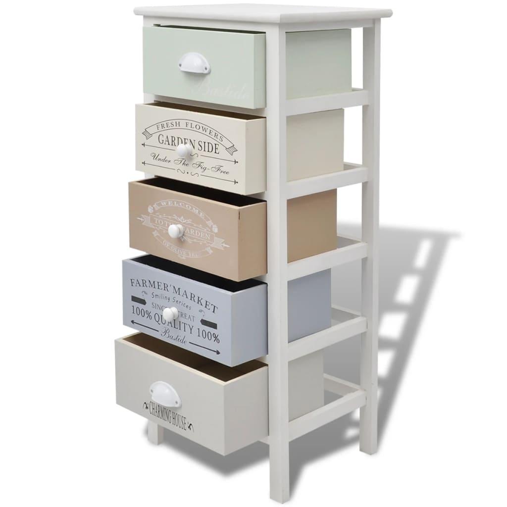 acheter vidaxl armoire de rangement 5 tiroirs bois pas. Black Bedroom Furniture Sets. Home Design Ideas