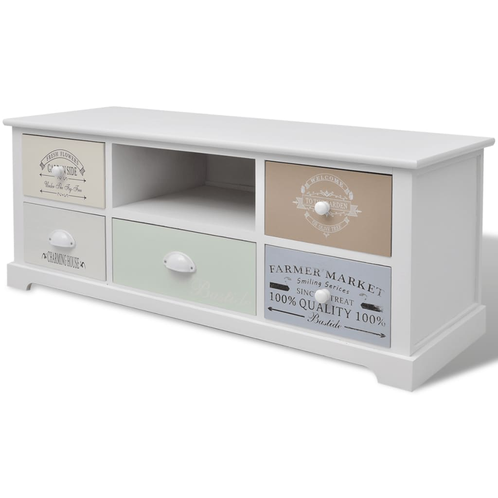 vidaXL Tv-meubel shabby chic Franse stijl hout