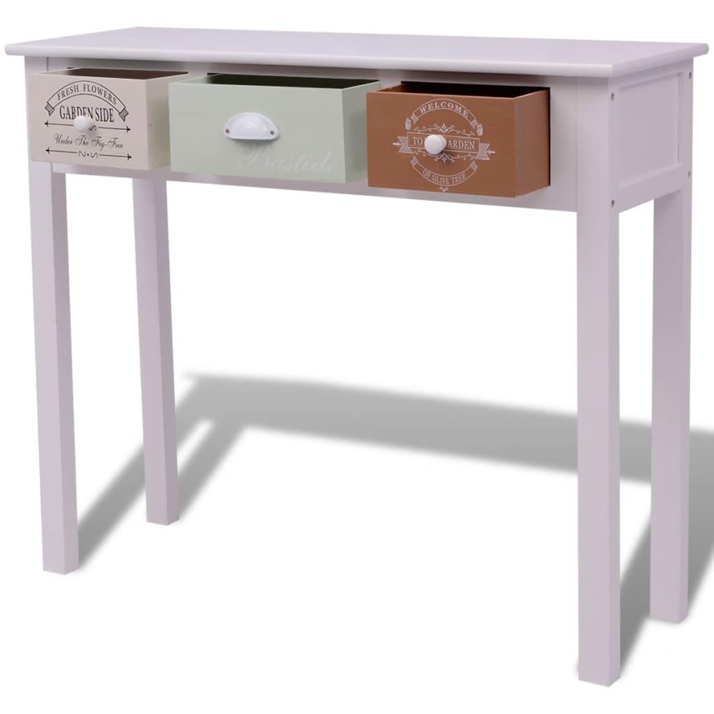 acheter vidaxl table console bois pas cher. Black Bedroom Furniture Sets. Home Design Ideas