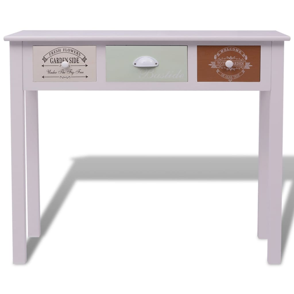 Vidaxl shabby chic french console table wood
